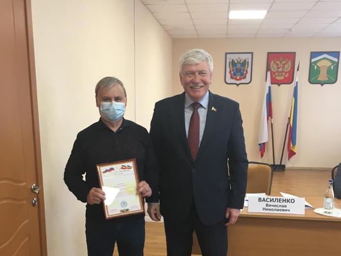 Глава Талловеровского поселения отмечен Благодарственным письмом