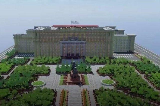 Ростовский школьник построил здание правительства в Minecraft