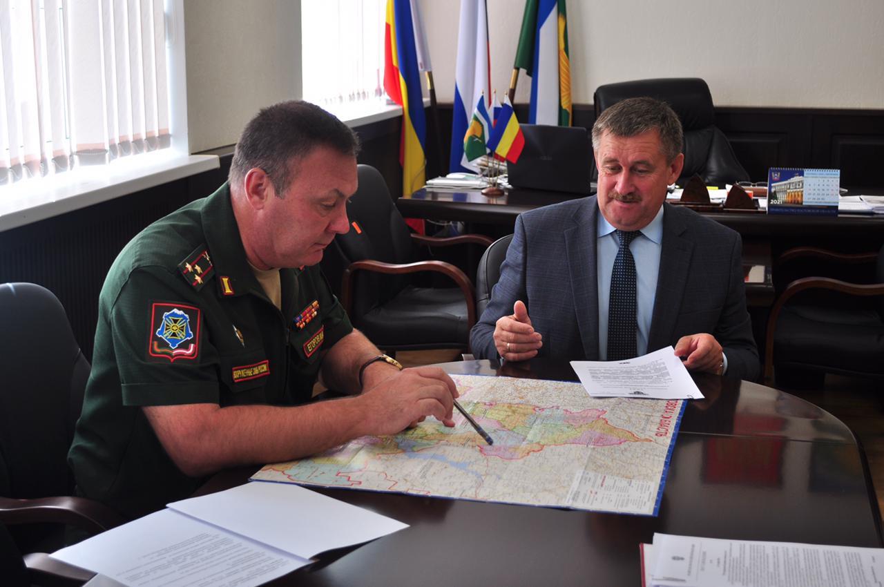Кашарский район посетил военный комиссар Ростовской области И.А. Егоров
